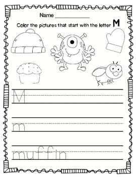 Alphabet Worksheets and Beginning Sounds