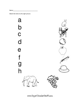 Alphabet Worksheets and Flashcards
