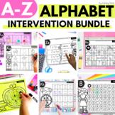 Alphabet Worksheets for Intervention | A to Z Bundle
