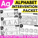 Alphabet Worksheets for Intervention | Letter A