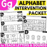 Alphabet Worksheets for Intervention | Letter G