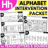 Alphabet Worksheets for Intervention | Letter H