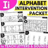 Alphabet Worksheets for Intervention | Letter I