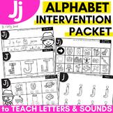 Alphabet Worksheets for Intervention | Letter J