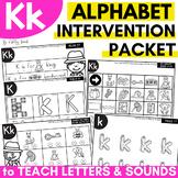 Alphabet Worksheets for Intervention | Letter K