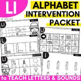 Alphabet Worksheets for Intervention | Letter L