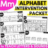 Alphabet Worksheets for Intervention | Letter M