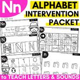 Alphabet Worksheets for Intervention | Letter N