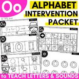 Alphabet Worksheets for Intervention | Letter O