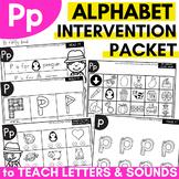 Alphabet Worksheets for Intervention | Letter P