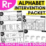 Alphabet Worksheets for Intervention | Letter R