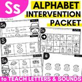 Alphabet Worksheets for Intervention | Letter S
