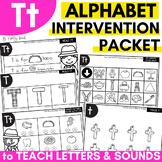 Alphabet Worksheets for Intervention | Letter T