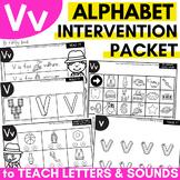 Alphabet Worksheets for Intervention | Letter V