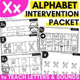 Alphabet Worksheets for Intervention | Letter X