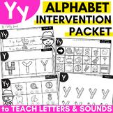 Alphabet Worksheets for Intervention | Letter Y