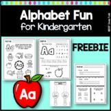 Alphabet Worksheets for Kindergarten Sampler FREEBIE