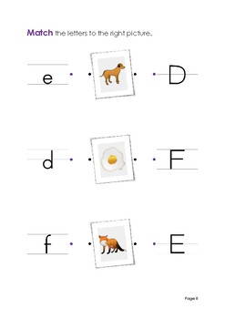 Alphabet Worksheets on Letter Writing and Recognition
