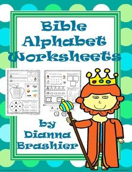 Alphabet Christian Theme Worksheet Activities
