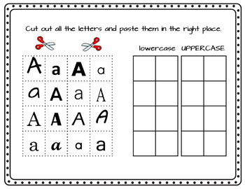 Alphabet Worksheets with Fun Cut and Paste Exercises