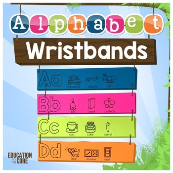 Alphabet Wristbands, Alphabet Activities