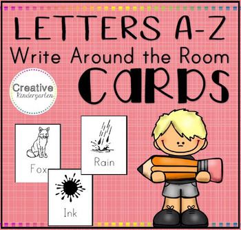 Alphabet Write Around The Room (Letters A to Z)