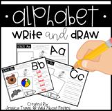 Alphabet * Write & Draw {freebie}