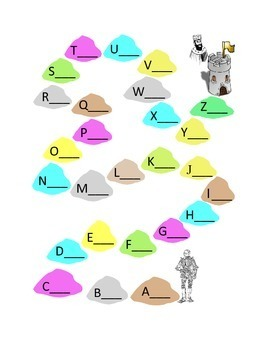 Alphabet Write Lower Case Letters Knight to Castle King Kindergarten