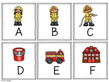 Alphabet  Write The Room - Fire Safety- Games, Activity and Printables