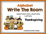 Alphabet Write The Room - Thanksgiving