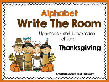 Alphabet Write The Room - Thanksgiving