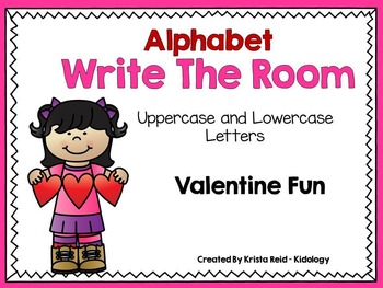 Alphabet Write The Room - Valentine Theme