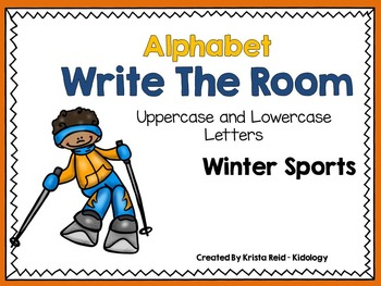 Alphabet Write The Room - Winter Sports - Activity, Center and Game