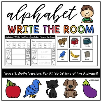 Alphabet Write/Trace the Room for Kindergarten