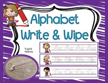 Writing the Alphabet (Literacy Center Handwriting Activity