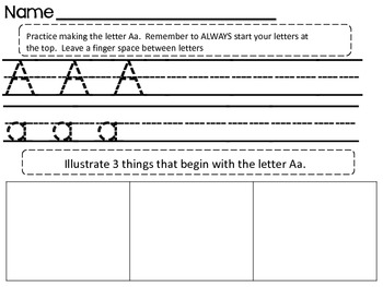 Alphabet Write and Illustrate