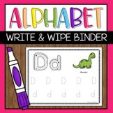 Alphabet Write and Wipe Binder