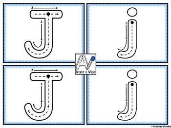 Alphabet Write and Wipe Mats Print Style {UK Teaching Resource}