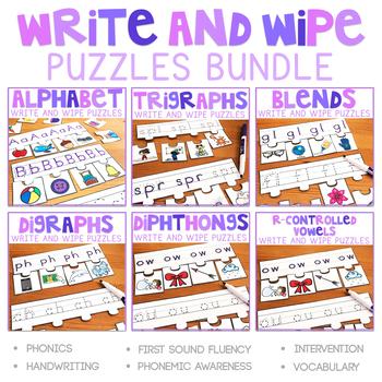 Phonics Write and Wipe Puzzles