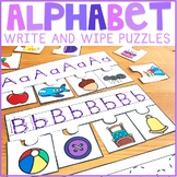 Alphabet Write and Wipe Puzzles