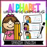 Alphabet Write and Wipe - Spanish and English