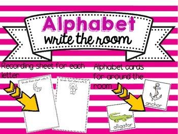 Alphabet Write around the Room