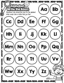 Alphabet Write the Room Center