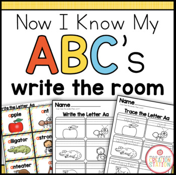 Alphabet Write the Room Center {Now I Know My ABC's Series}
