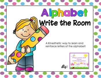 Alphabet Write the Room-Freebie!