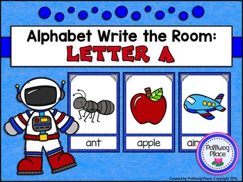 Alphabet Write the Room: Letter A