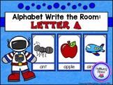 Alphabet Write the Room: Letter A