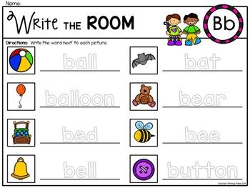 Alphabet Write the Room: Letter B
