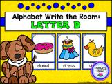 Alphabet Write the Room: Letter D