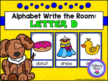 Alphabet Write the Room: Letter D